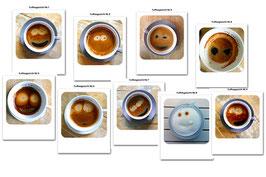 Alle Kaffeegesichter No. 1- No. 9