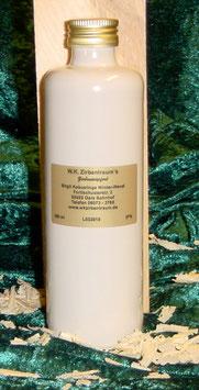 Zirbenlikör 350 ml in einer cremefarbigen Steinzeugflasche