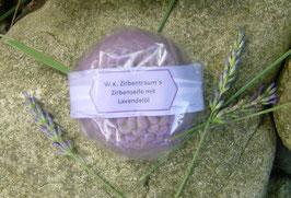 80 g  Zirbenseife rund mit BIO-Lavendelöl