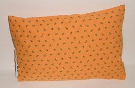 """Zirbenkissen 20 x 30 cm mit herausnehmbaren Innenvlieskissen """"Landhaus orange"""""""
