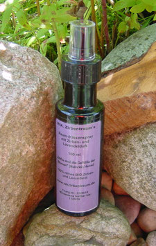 Hochwertiger Zirben-/Lavendelspray  in einer 100 ml Glasflasche mit Zerstäuber und Verschlusskappe