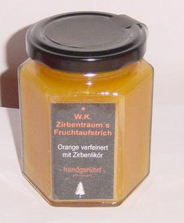 Fruchtaufstrich Orange verfeinert mit unserem Zirbenlikör