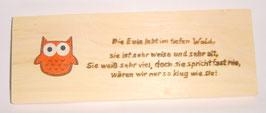 "Zirbenholzbrett ""Die Eule....."