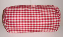 Nacken-/Venenrolle 40 x 20 cm rot-weiß kariert