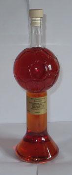700 ml Zirbenlikör im Fußballpokal + 1 schwerer Kristallaschenbecher