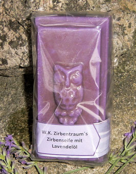 90 g Zirbenseife mit BIO-Lavendelöl