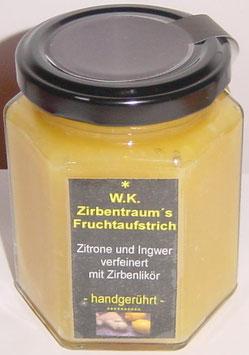 Fruchtaufstrich Zitrone-Ingwer verfeinert mit unserem Zirbenlikör