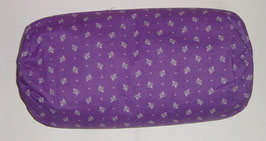Nacken-/Venenrolle 40 x 20 cm Landhaus lila
