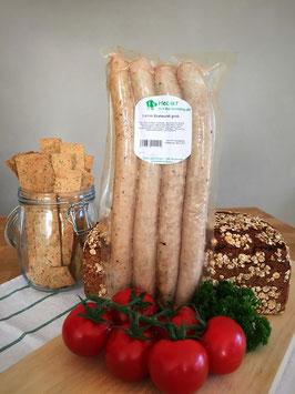 Lamm-Bratwurst, grob o. fein
