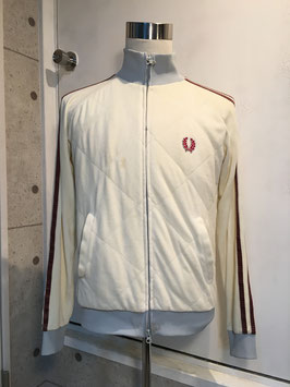 FRED PERRY VELOUR TRACK TOP IVORY