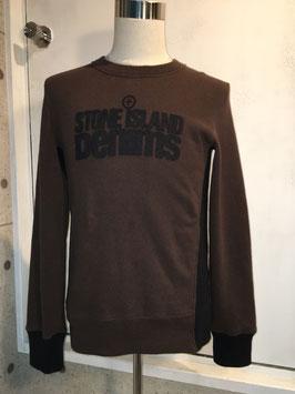 STONE ISLAND DENIMS JUMPER BROWN