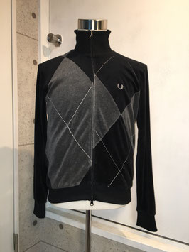 FRED PERRY VELOUR TRACK TOP BLACK