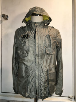 MA.STRUM HOODED JACKET SILVER GRAY