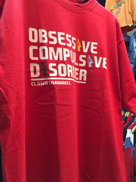 OBSESSIVE COMPULSIVE DISORDER tee RED
