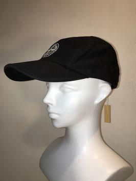 STONE ISLAND 5 PANEL CAP BLACK