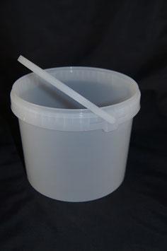Kunststoffeimer 5kg rund natur m. Deckel