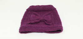 Noeud papillon/snood violet.