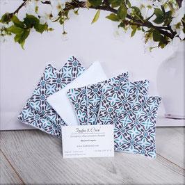 Lingettes Mosaïque Bleue