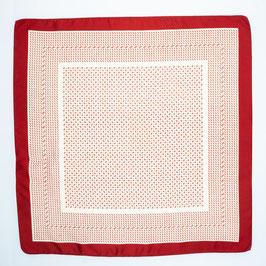 Foulard dark red / Tuch dunkles Rot