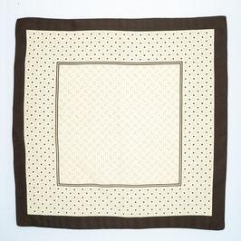 Foulard brown patterned / Tuch braun gemustert