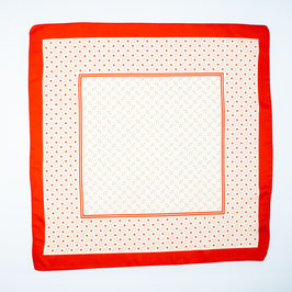 Foulard red patterned / Tuch rot gemustert
