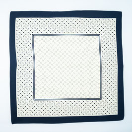 Foulard blue patterned / Tuch blau gemustert