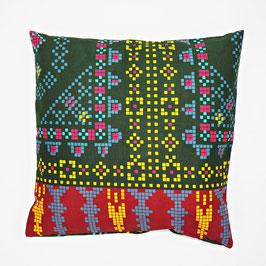 Cushion green patterned 40x40 - Kissen grün gemustert 40x40