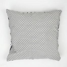 Cushion black and white lines 40x40 - Kissen schwarz weiße Linien 40x40