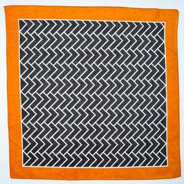 Foulard black orange / Tuch schwarz orange