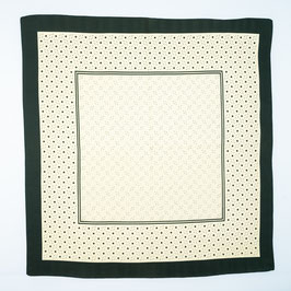Foulard green patterned / Tuch grün gemustert