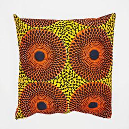 Cushion orange sun 40x40 - Kissen orange Sonne 40x40
