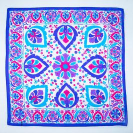 Foulard purple ornaments / Tuch violette Ornamente