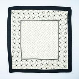Foulard black patterned / Tuch schwarz gemustert