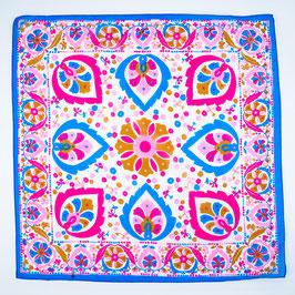 Foulard blue and pink / Tuch blau und pink