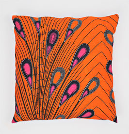 Cushion peacock feathers 40x40 - Kissen Pfauenfedern 40x40