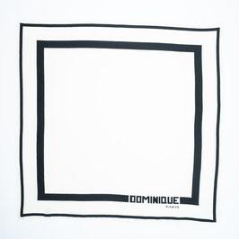 Foulard black & white / Tuch schwarz & weiß