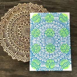Postkarten handbedruckt mit indischen Holzstempel 22