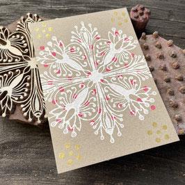 Postkarten handbedruckt mit indischen Holzstempel 23
