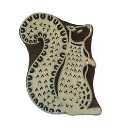 Holzstempel Block Print Mrs. Eichhorn M60