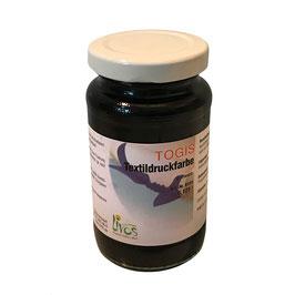 Togis natürliche Textildruckfarbe Schwarz  125ml
