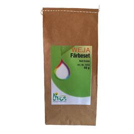 Weja Färbeset Nuss-Creme für Baumwolle und Leinen