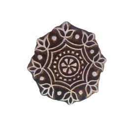 Holzstempel Block Print  Mandala klein M135