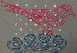 Postkarten handbedruckt mit indischen Holzstempel 37