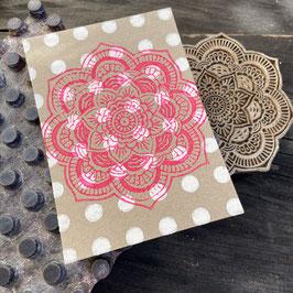 Postkarten handbedruckt mit indischen Holzstempel 18