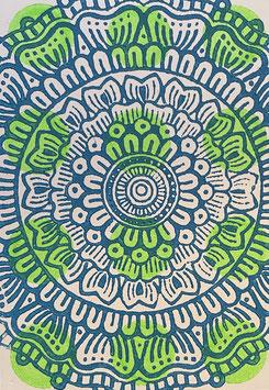 Postkarten handbedruckt mit indischen Holzstempel 31