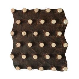 Holzstempel Block Print Punkt M154