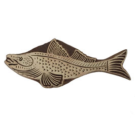 Holzstempel Block Print Fisch M 42