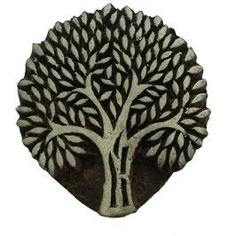 Holzstempel Block Print Baum 35