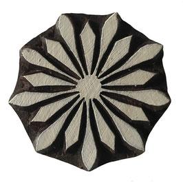 Holzstempel Block Print  Blumen Ster M186