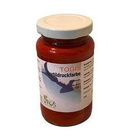 Togis natürliche Textildruckfarbe Korallenrot 125ml
